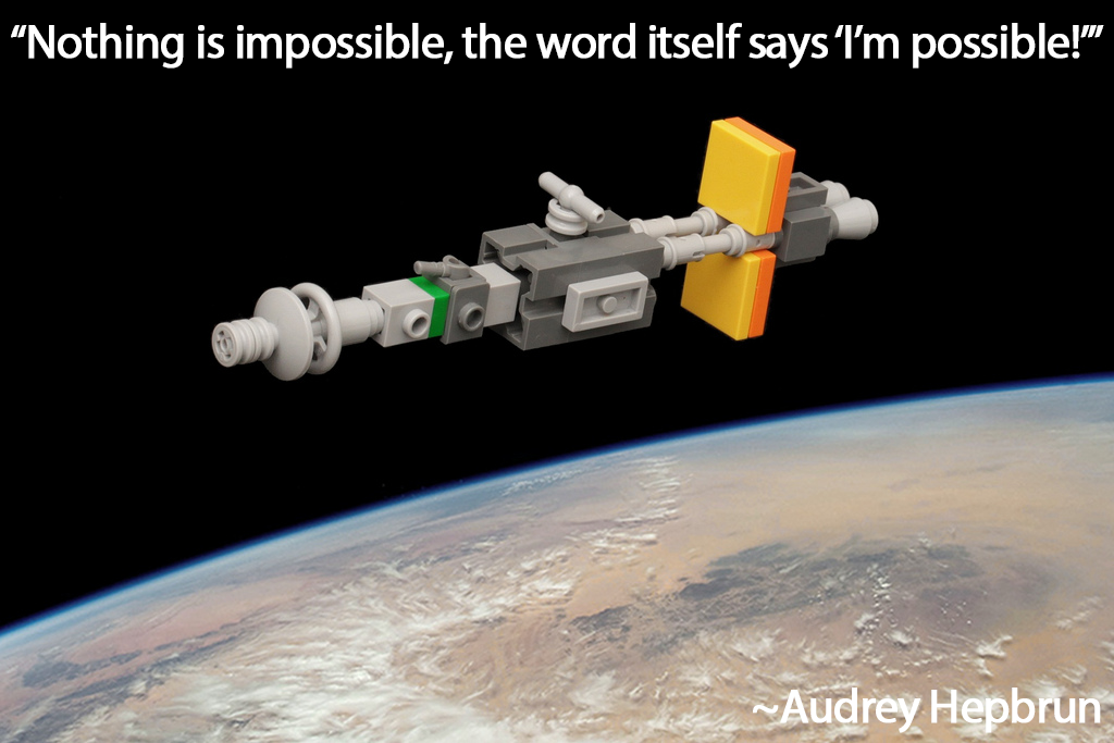 """Nothing is impossible, the word itself say 'I'm possible!'"""